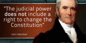 john marshall judicial power change